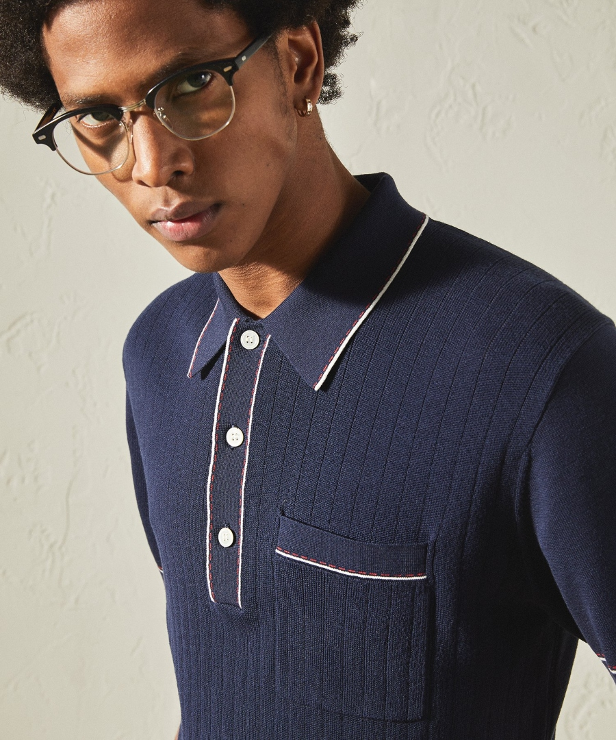 Todd Snyder Italian Cotton Silk Tipped Ribbed