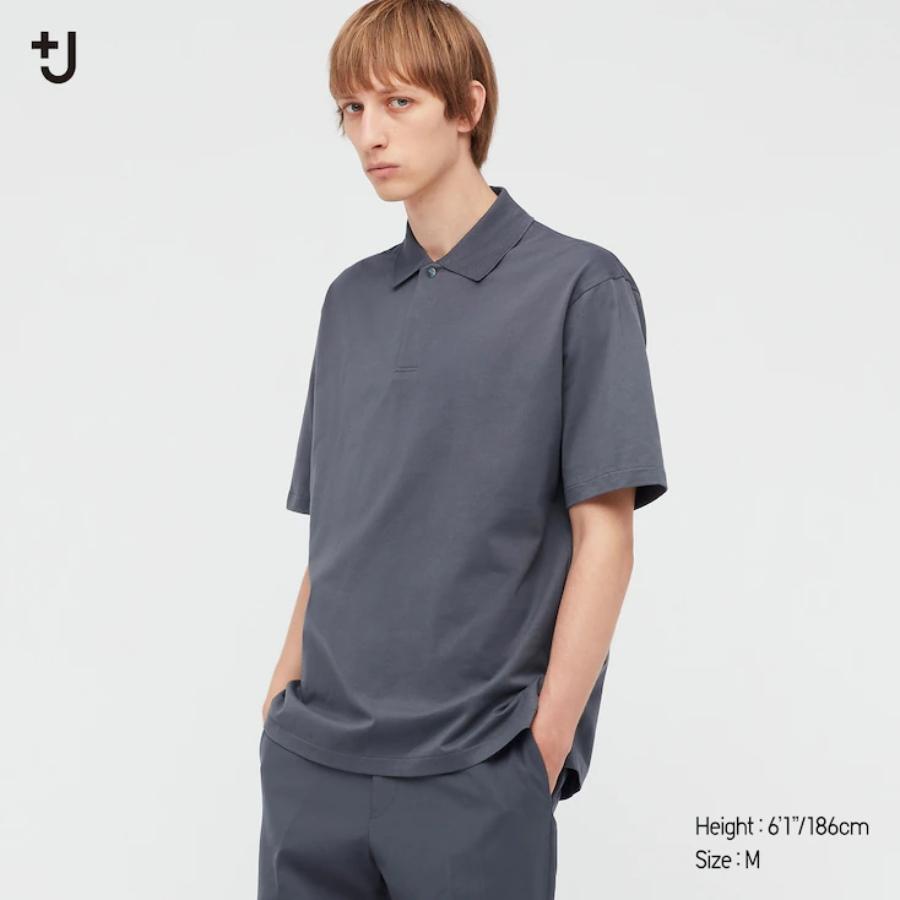 Men +J Relaxed Fit Short-Sleeve Polo Shirt áo polo